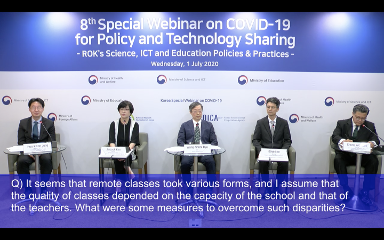KERIS Shares Korea's Insights on Online Learning at the 8th Special Webinar on COVID-19 for Policy and Technology Sharing